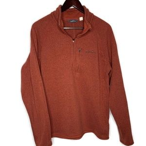 Eddie Bauer Brown/Rust 1/4 Zip Pullover